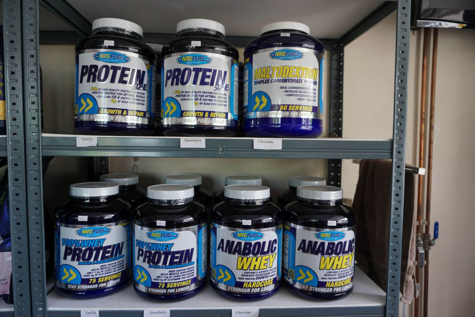 Fitta bodies gym whey protein NRG